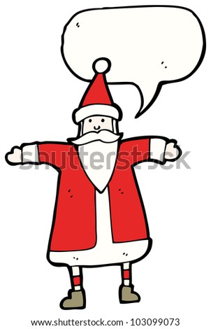 traditional santa claus cartoon