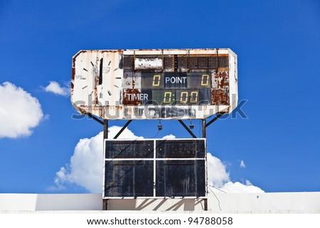 traditional score board at stadium
