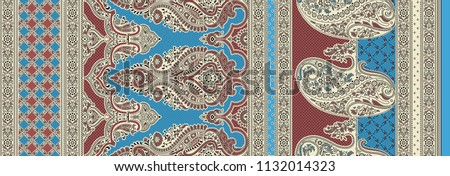traditional seamless textile background  motif sari border design