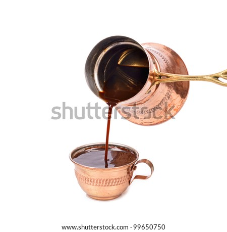 Traditional Serving Turkish coffee