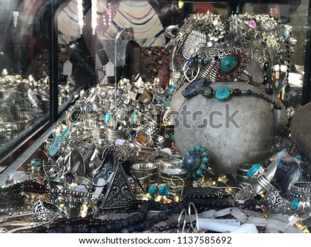 Traditional silver jewelry mix  #1137585692