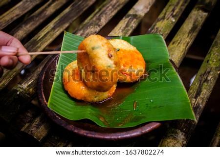 traditional small egg martabak (Martabak tradisional) Stock fotó ©
