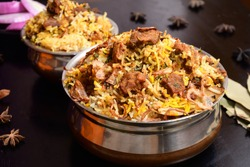 Traditional South Indian Mutton Biryani