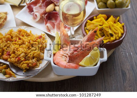 traditional spanish tapas variety