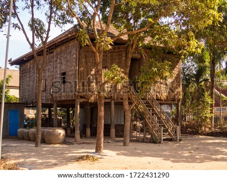 Traditional stilt house - Roka Ar, Cambodia Stok fotoğraf ©