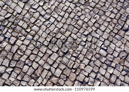 Traditional stone pavement in Lisbon - Portugal