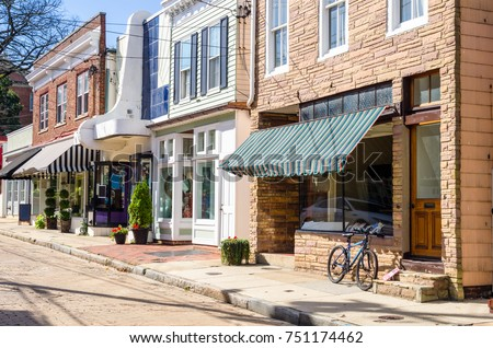 traditional stores along a...