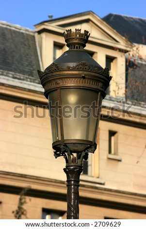 Traditional street lamp in Paris