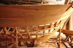 traditional style turkısh wooden boat construction