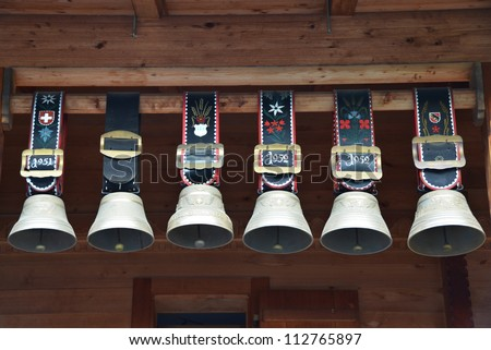 Traditional Swiss cowbells in Jungfrau region