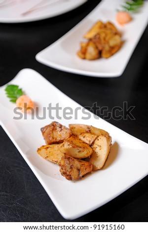 traditional tapas of mushrooms