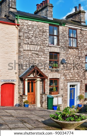 Traditional terraced cottages in Kendal, Cumbria, England