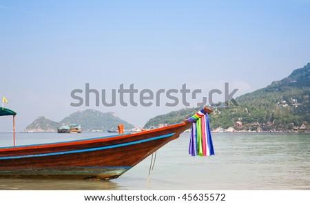 Traditional Thai  Boat. Koh Tao Island