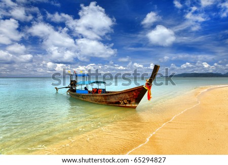 Traditional Thai boat, Thailand, Phuket