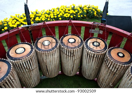 Traditional Thai drum.