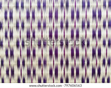 Traditional Thai reed mat texture. Thai mat, pattern of the mat in local traditional