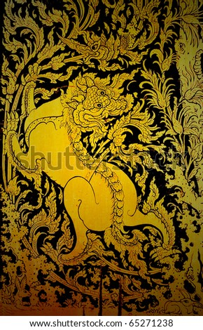traditional thai style painted art