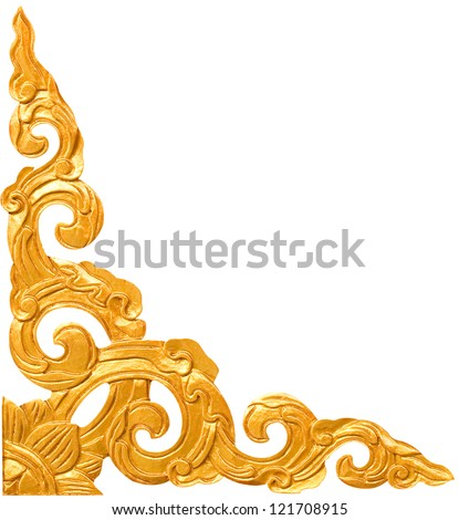 Traditional Thai style pattern decorative isolated on white background