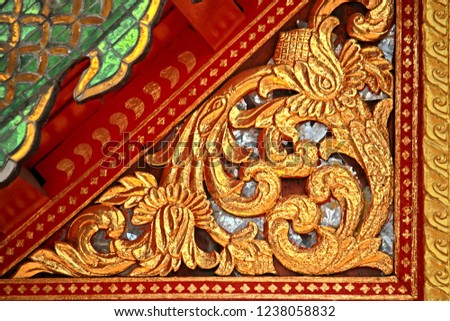 Traditional Thai style wood craving