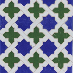 Traditional tiles from old house in Valencia, Spain
