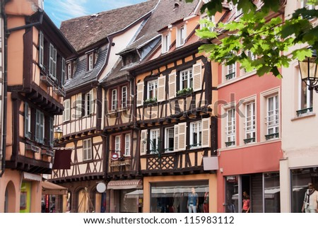 Traditional Timbered houses in Alsace regions, France