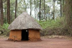 Traditional tribal hut of Kenya people. Bomas of Kenya, Nairobi, East Africa.