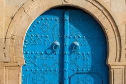 Traditional tunisian door from Sidi Bousaid