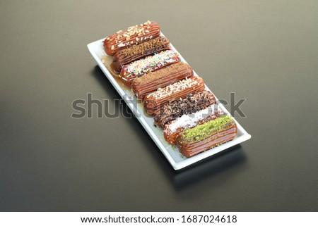 Traditional Turkish dessert tulumba tatlı Stok fotoğraf ©