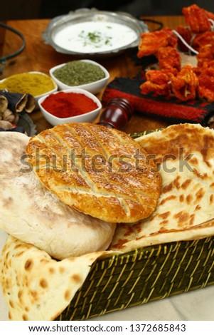 Traditional Turkish ramadan pita bread - Ramazan pidesi #1372685843