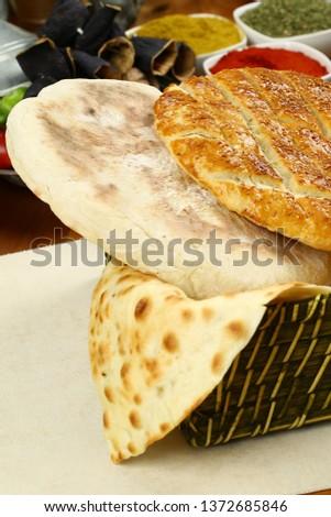 Traditional Turkish ramadan pita bread - Ramazan pidesi #1372685846