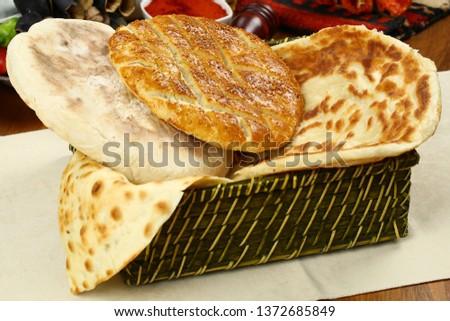 Traditional Turkish ramadan pita bread - Ramazan pidesi #1372685849
