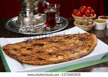 Traditional Turkish ramadan pita bread - Ramazan pidesi #1372685858