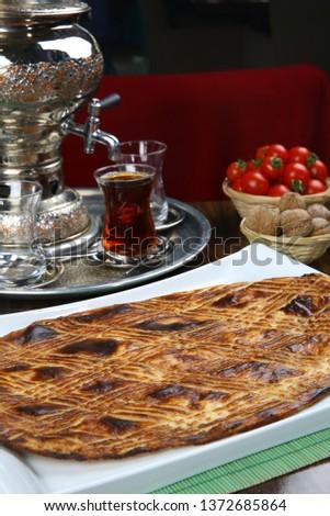Traditional Turkish ramadan pita bread - Ramazan pidesi #1372685864
