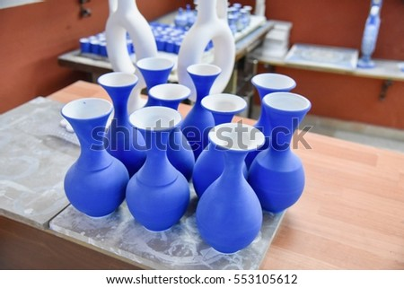 Traditional Turkish Vases at a Factory Near Cappacodia, Turkey