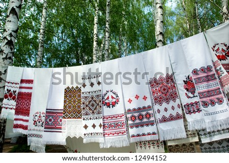 Ukrainian hand-embroidered clothes, blouses, shirts, Pushnyks