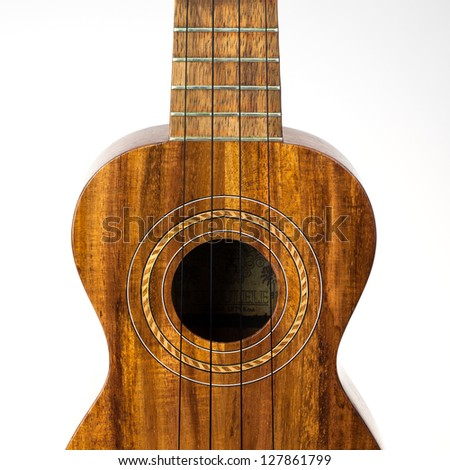 Traditional ukulele made of Koa wood
