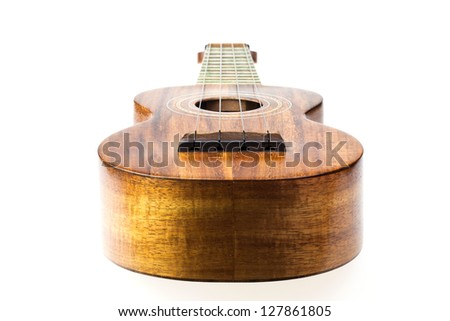Traditional ukulele made of Koa wood