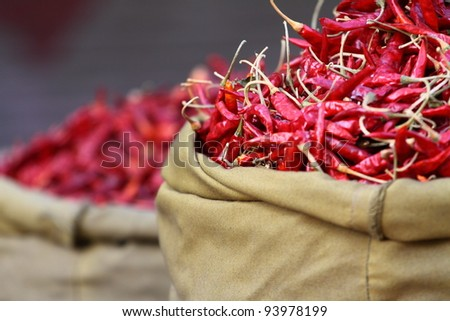 Traditional vegetable market in India.