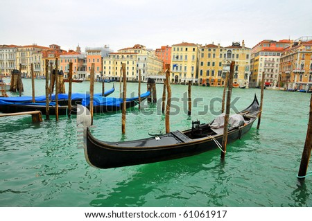 Traditional Venice gondola