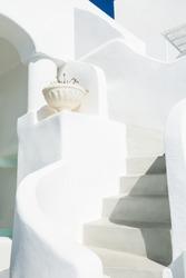 Traditional white architecture on Santorini island, Greece.