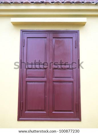 Traditional wood window in temple, hanoi, vietnam