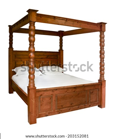 traditional wooden four poster...