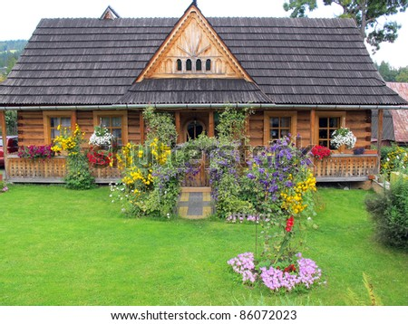 Traditional wooden house in zakopane poland tatra mountain area stock photo 86072023 - Traditional polish houses wood mastership ...