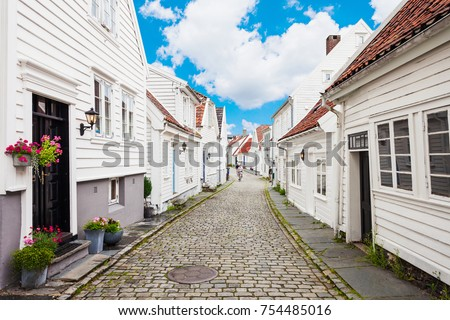traditional wooden houses in...