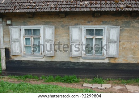 Traditional wooden polish home