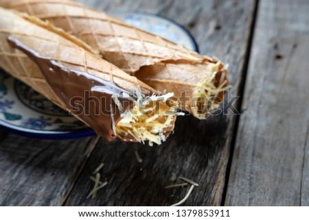 "traditional Yucatan food: ""marquesitas"" dessert"