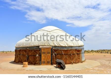 traditional yurt housing in Uzbekistan