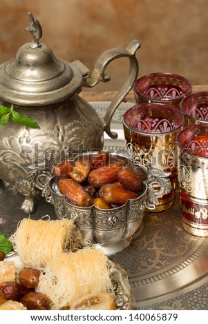 Traditionally dates are eaten at sunset during Ramadan month