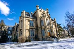 Trafalgar Castle School for Ontario Ladies built in 1874 in Oshawa, Ontario, Canada.
