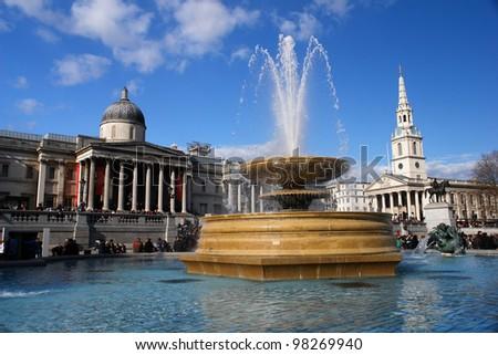 Trafalgar Square in London United Kingdom
